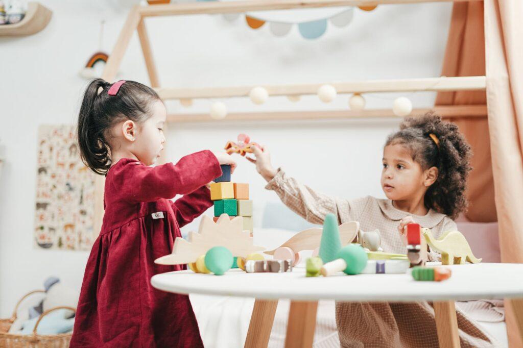 Balancing between two kids